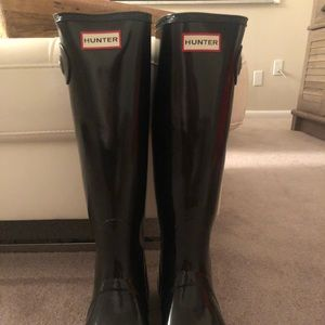 Brand New!! Black Hunter boots and boot socks!